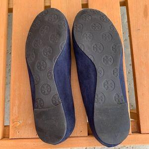 Tory Burch Shoes - Tory Burch Navy Suede Reva Ballet Flats 6m